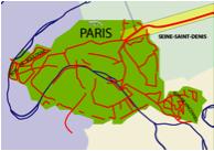 Cartographie des voies vertes à Paris