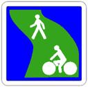 Panneau C115 de signalisation d'une voie verte