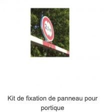 Kit de fixation de panneau pour portique