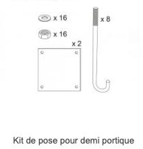 Kit de pose pour demi portique