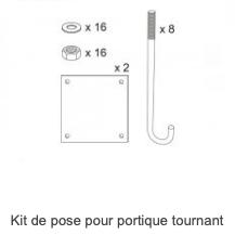 Kit de pose pour portique tournant