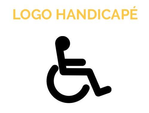 Logo Pochoir Handicapé PMR